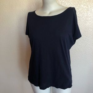 Brooks Brothers Navy Blue Knit Tee Top